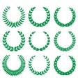 green laurel wreaths 1 vector image vector image