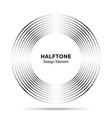 halftone black circle frame dots logo emblem vector image