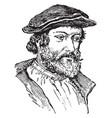hans holbein vintage vector image vector image