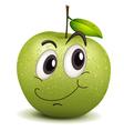 happy apple smiley vector image vector image