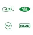 Healthy food labels vector image vector image