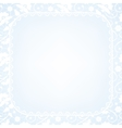 lace border on blue background vector image vector image