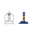light house icon vector image