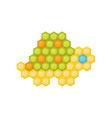 little turtle made of multicolored children s vector image