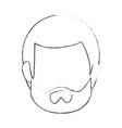 man faceless head vector image vector image