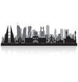 Manama Bahrain city skyline silhouette vector image vector image
