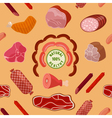 Meat Background Seamless Pattern with Meat vector image vector image