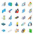 merchant icons set isometric style vector image vector image