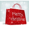 Merry Christmas shopping bag vector image vector image