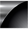 Metal dark striped background vector image vector image