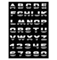metallic typography vector image