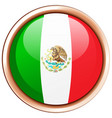 mexico flag on round frame vector image vector image
