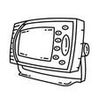 navigation telex icon doodle hand drawn vector image