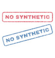 no synthetic textile stamps vector image vector image