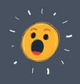 oops emoticon face symbol vector image