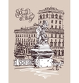 original freehand sketch travel card from Rome vector image vector image