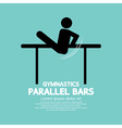 Parallel Bars Gymnastics vector image vector image