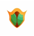 Protection shield icon cartoon style vector image