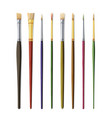Realistic artist paintbrushes set paint brush set vector image