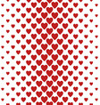 Red vertical heart pattern background design vector image vector image