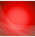 Red wave bright background template vector image