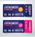 rock party festival ticket design template vector image vector image