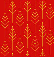 seamless autumn pattern with abstract christmas vector image