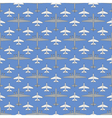 seamless pattern with military airplanes 03 vector image vector image