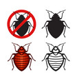 set bed bugs insect icons