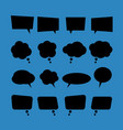 set of blank flat speech bubbles in black style vector image vector image