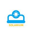 solarium icon on white vector image vector image