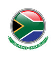 south-africa flag button south-africa flag icon vector image
