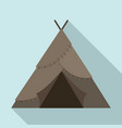 stone age tent icon flat style vector image vector image