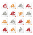 stylized insurance and risk icons vector image