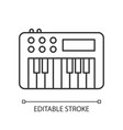 synthesizer pixel perfect linear icon vector image