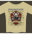 T-shirt design for a Motorcycle workshop vector image vector image