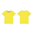 technical sketch men t shirt in yellow colors vector image vector image