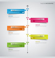 time line info graphic with stuck colored design vector image vector image