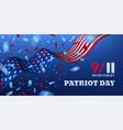 usa patriot day horizontal banner vector image vector image