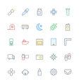 User Interface Colored Line Icons 54 vector image vector image