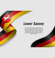 waving ribbon or banner with flag state germany vector image vector image