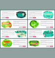 web posters set with discount off summer big sale vector image vector image
