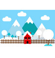 winter logo vector image vector image
