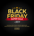 winter sale poster black friday vector image