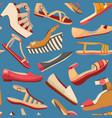 dark shoe seamless pattern vector image