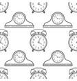 alarm clock and mantel clocks black and white vector image