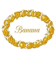 Oval frame of Yellow Bananas on white background vector image