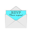 abbreviation rsvp and please respond text to vector image