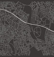 abstract city map in black and white vector image vector image