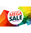 awsome colorful sale banner design with offer vector image vector image